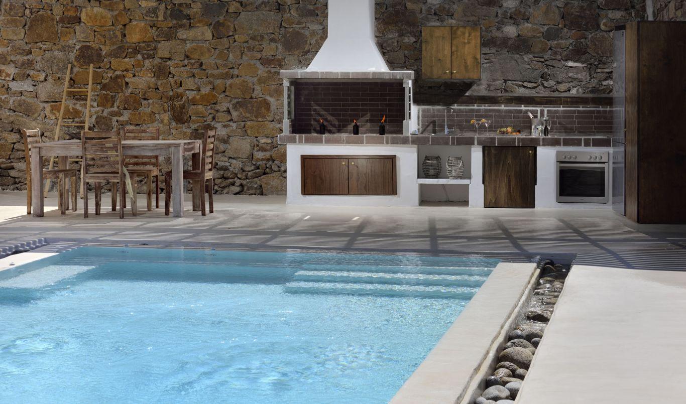 Pool Area Elegant Villa Mykonos